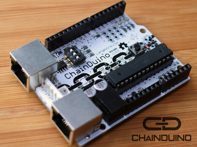 Picture of the chainduino (prototype version)