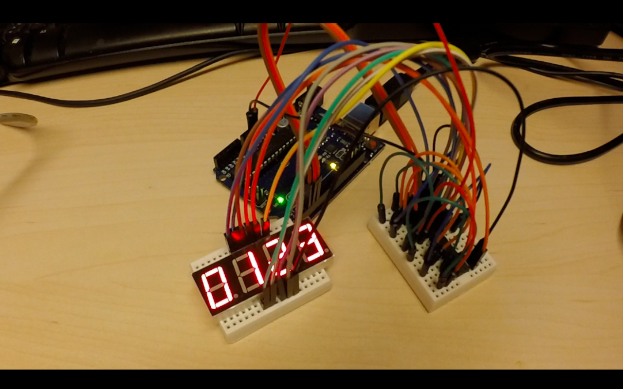 Using 2 74hc595 To Control A 4 Digit 7 Segment Led Display Courtesy Arduino Of Anything
